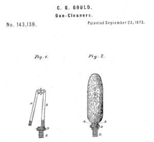 Charles Gould patent gun cleaner