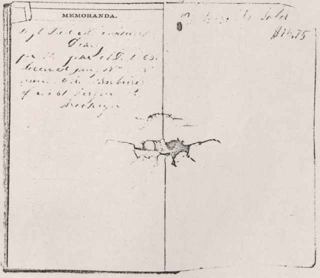 Sergeant Francis McMillen's diary, courtesy of East Carolina University