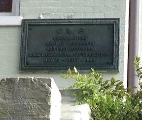 Pemberton HQ plaque