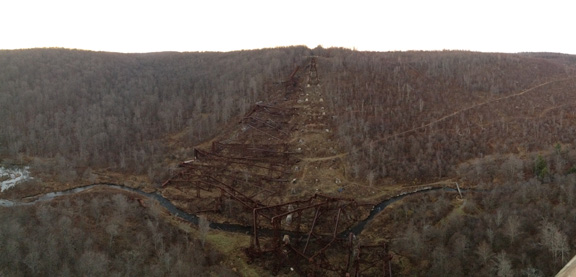 Grant headed to McKean County to visit the Kinzua Viaduct. Today, most of the bridge lays in ruins.