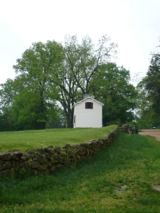 Part of the Sunken Road, Fredericksburg Battlefield. (Photo by the author, 2008).