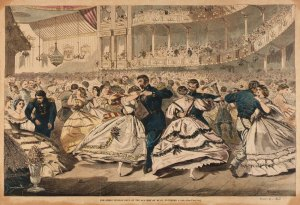 A lithograph of the  Russian Ball at the Academy of Music, in New York, November 1863.