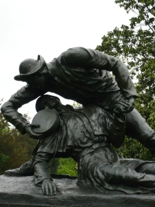 Statue memorializing Sergeant Kirkland's heroism, Fredericksburg Battlefield. (Photo by the author, 2008).
