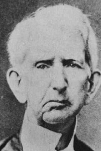Secretary of State Seward, his face scarred from his attack in April