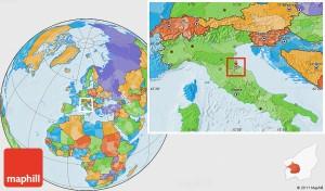Political location map of San Marino.