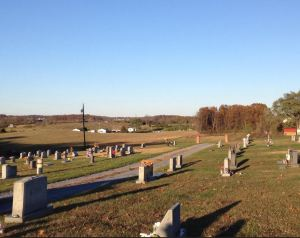 View from Middletown Cemetery near the position of Bidwell's brigade.