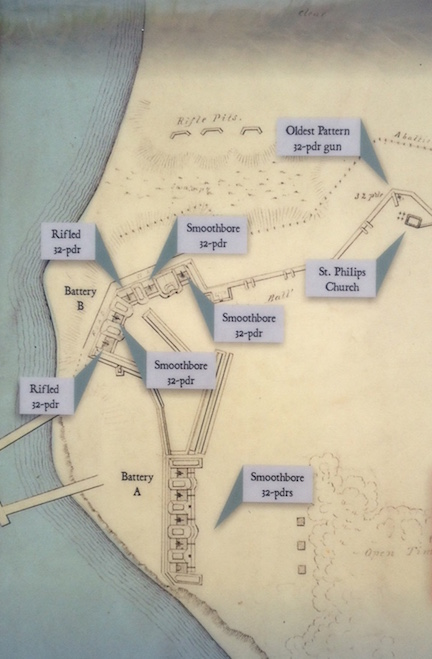 This map of the fort comes from one of the park's waysides.