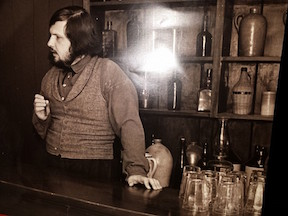 Ted, during his days at Harper's Ferry, sometimes did duty as bartender.