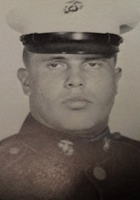 Ted during his days in the Marines