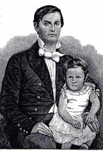 """Winfield S. Hancock and his son, Russell (Illustration from """"Reminiscences of Winfield S. Hancock"""" published in 1887)"""