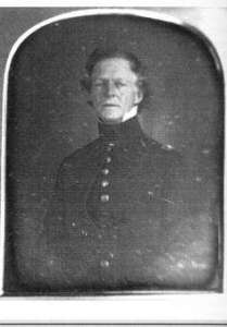 Engineer Joseph Mansfield Oversaw the Construction of the American Fort. During the Civil War, Mansfield commanded the 12th Corps at the Battle of Antietam and was mortally wounded advancing towards the bloody Cornfield. (Middlesex, CT, Historical Society)