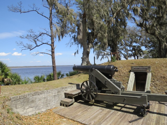 From inside Ft. McAllister, facing Ogeechee River