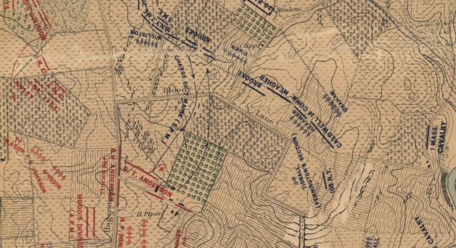 Map of 7th Maine attack