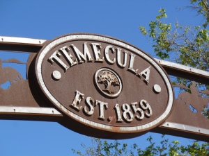 Temecula - the host city for the new Civil War conference - was two years old in 1861. (How cool is that?)