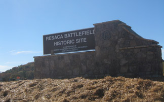 Resaca Battlefield Sign