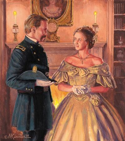 """Fanny & Joshua"" (Artwork by Mort Kunstler)"