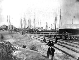 The Federal supply base at Aquia Landing.