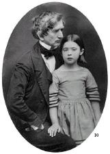 Secretary of State under Lincoln, William Seward poses with his young daughter Fanny
