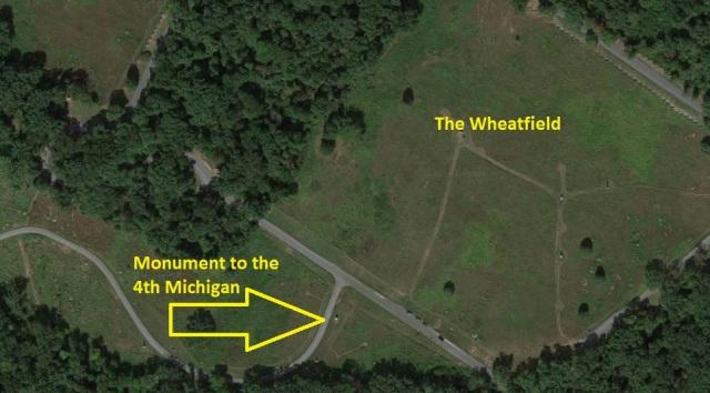 4th Michigan Map Wheatfield