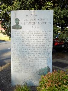 Pendleton Memorial Marker, Woodstock, VA