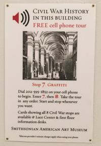 Cellphone Tour Sign
