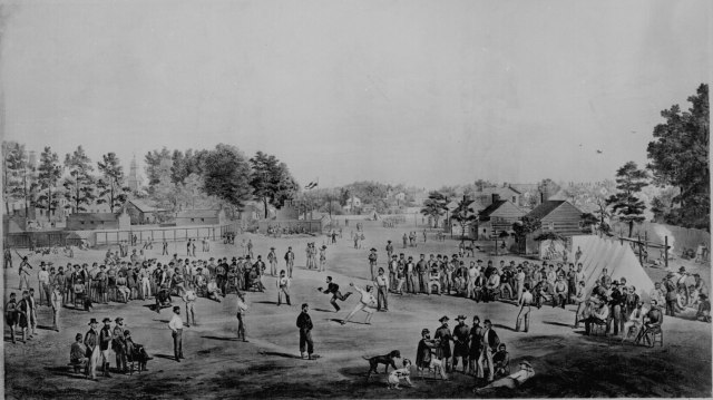 Union Prisoners' Ballgame in Salisbury, North Carolina