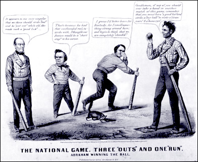 Ballgame Satire from the 1860 Election