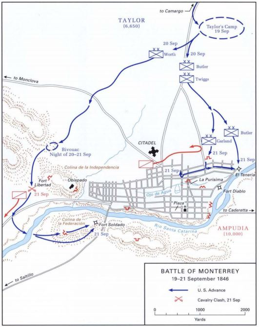 The Opening Stages Of The Battle Of Monterrey From Sept 19 21 1846