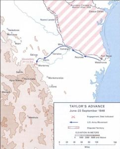 Zachary Taylor's march to Monterrey in the summer and fall of 1846 (U.S. Army)