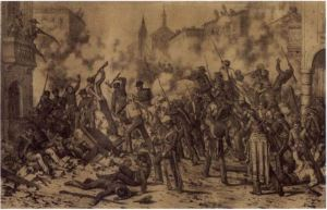 Street fighting in Monterrey proved especially devastating to US infantry units. (University of Texas at Austin)