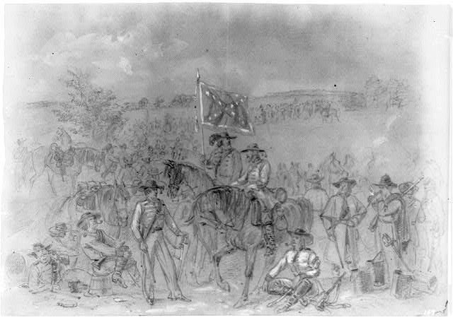 The 1st Virginia Cavalry at a halt, September 1862. (LOC)
