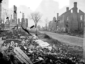Fredericksburg, Structure and Street Damage