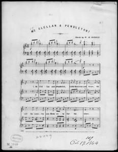 McClellan and Pendleton Sheet Music (Library of Congress, Music Division)