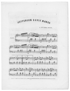 Jefferson Davis Grand March Sheet Music (Library of Congress, Music Division.)