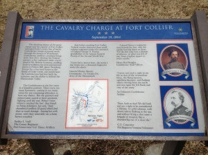 Interpretive sign at Fort Collier