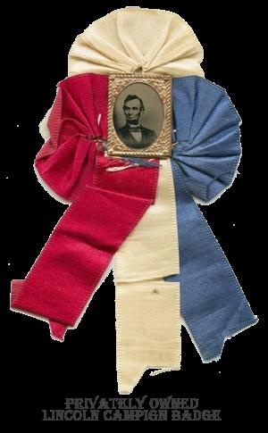 Lincoln Campaign Badge, 1864?