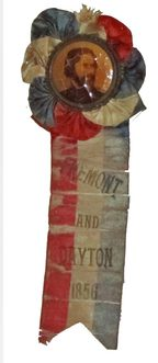 Fremont Election Ribbon, 1860