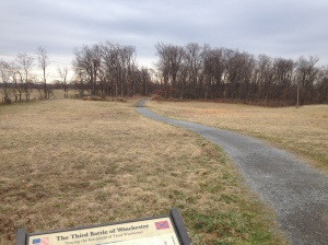 Walking trail on the Third Winchester battlefield