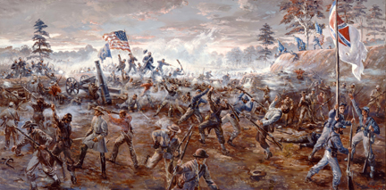 """""""Capture of Fort Harrison"""" by Sidney King"""