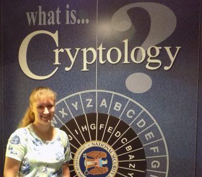 Sarah Kay Bierle at the National Cryptologic Museum