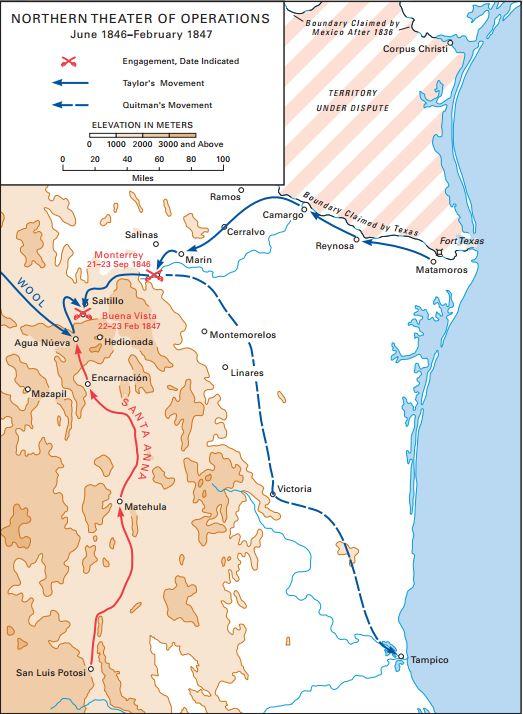 MexicanAmerican War Th Battle Of Buena Vista Emerging Civil War - Buena vista on us map