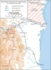A map showing operations leading up to the battle of Buena Vista (US Army)