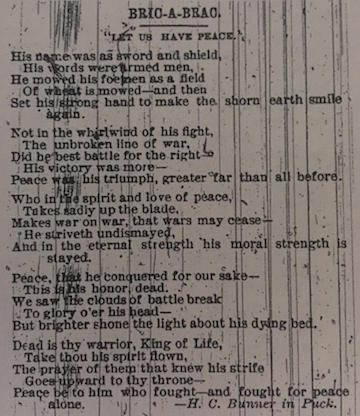 Grant Poem-Let Us Have Peace