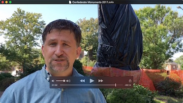 Statues with Tarps Video Thumbnail