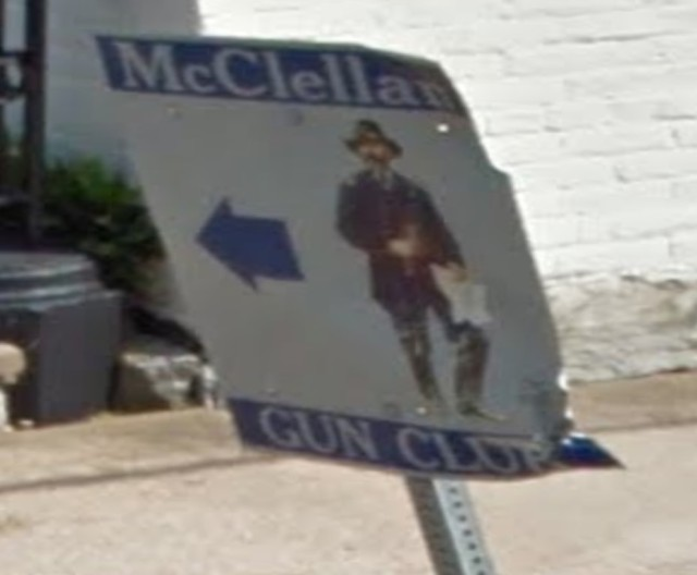 McClellan Gun Club sign